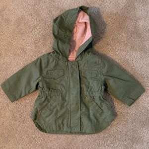 Old Navy Hooded Utility Jacket Hunter Green